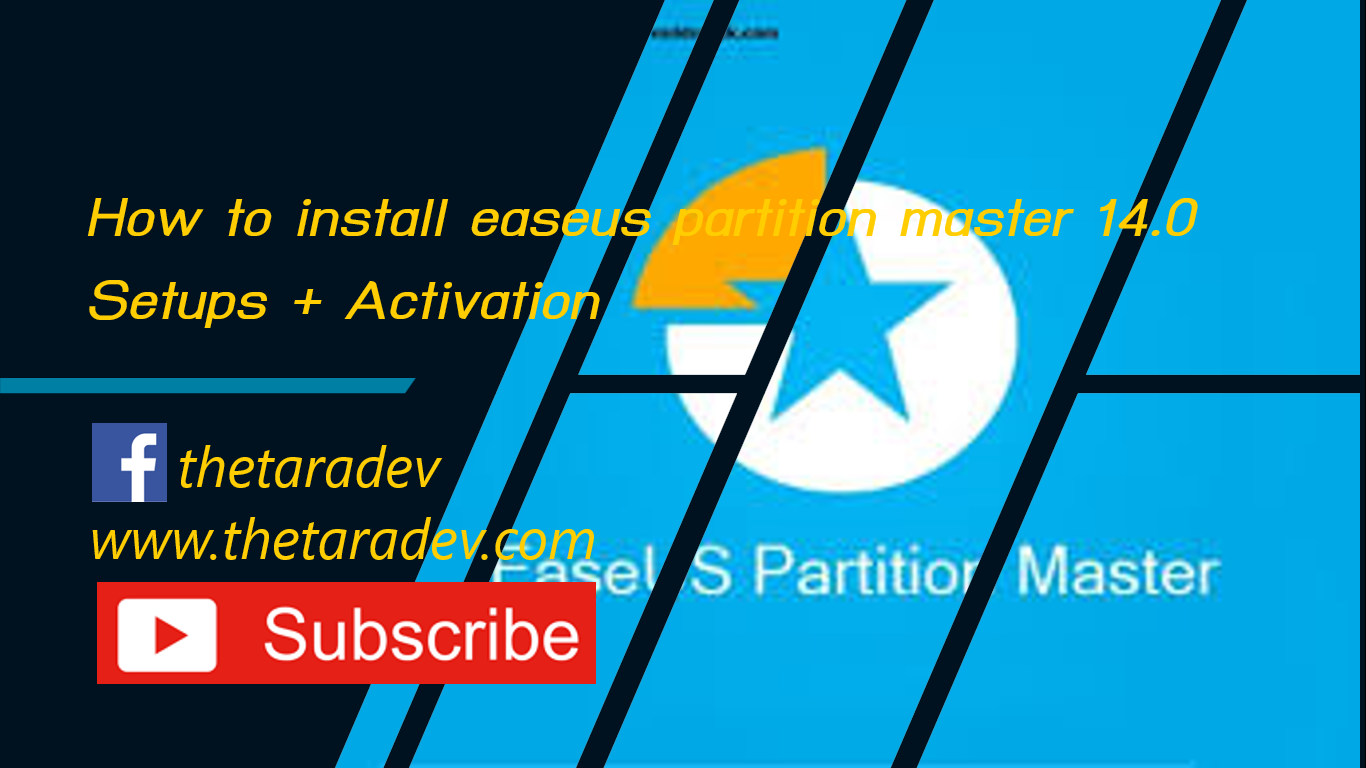 How to install Easeus partition master 14.0 Setups + Activation