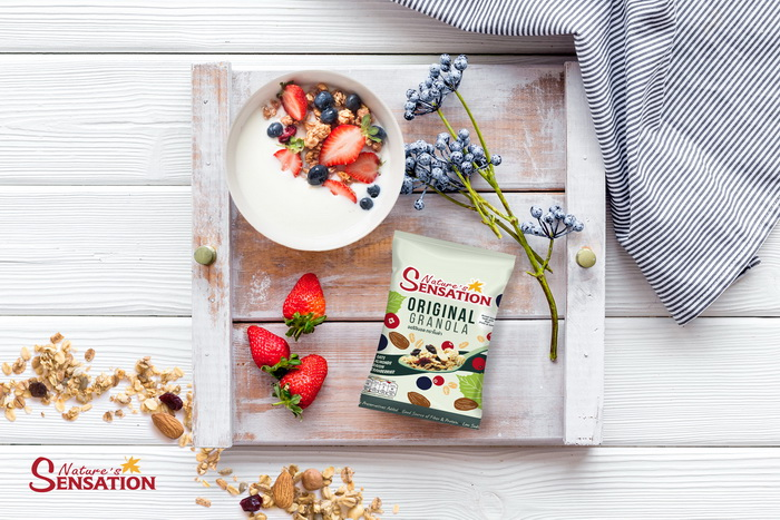 Simple ideas for your brekkie granola bowl by Nature's Sensation
