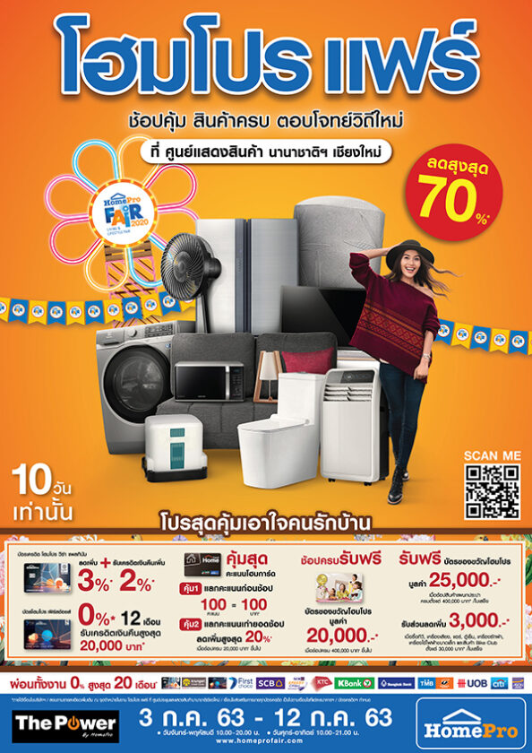 """Countdown to the big return, """"Home Pro Fair Chiang Mai"""", 3 – 12 July, discount up to 70%"""